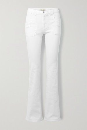 Oakland Mid-rise Bootcut Jeans - White