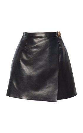 Embellished Detail Leather Mini Skirt By Versace | Moda Operandi