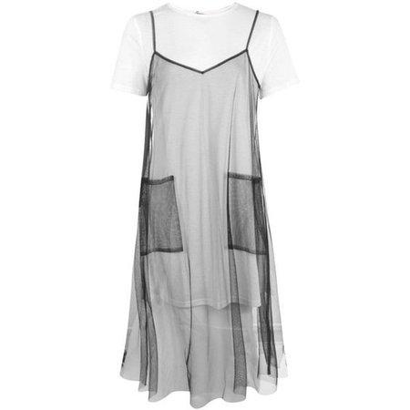 Boohoo Darcey 2 in 1 Tulle Slip Dress