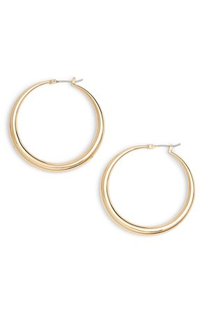 Halogen® Medium Graduated Tube Hoop Earrings | Nordstrom