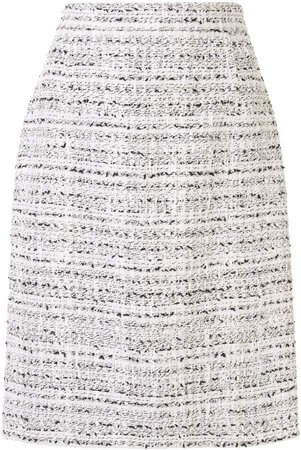 High-Rise Tweed Pencil Skirt