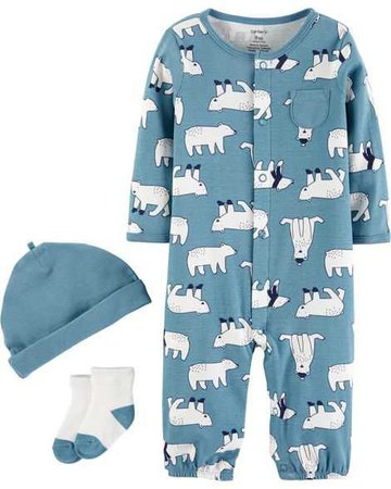 Baby Boy 3-Piece Take-Me-Home Set | Carters.com