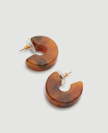 Acetate Hoop Earrings | Ann Taylor