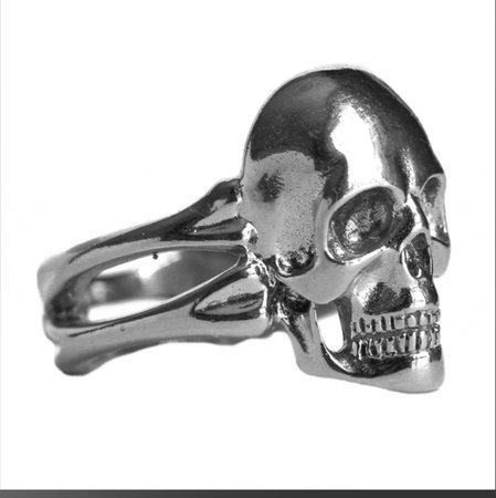 Verameat Silver Heart Of The Dead ring Solid... - Depop