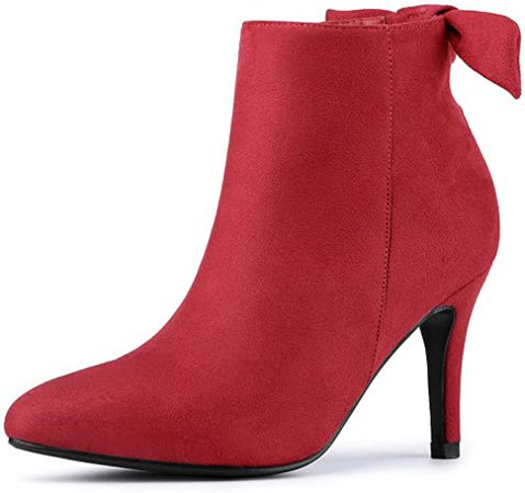 Amazon.com | Allegra K Women's Pointed Toe Stiletto Heel Ankle Boots | Ankle & Bootie