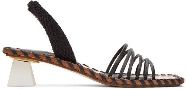 Black Les Sandales Valerie Heeled Sandals