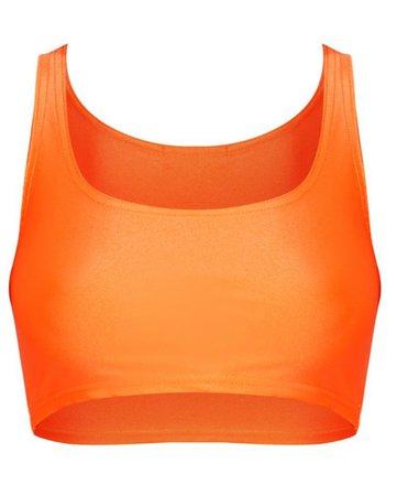 neon orange crop top