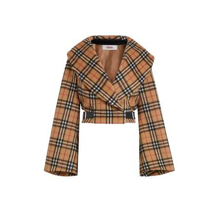 burberry wool hugger jacket