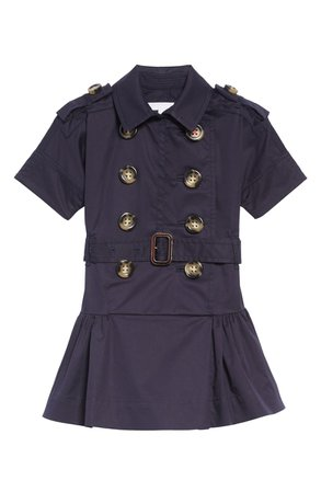 Burberry Cynthie Stretch Cotton Trench Dress (Toddler Girls, Little Girls & Big Girls) | Nordstrom