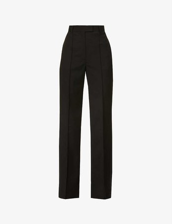 THE KOOPLES - High-rise tapered-leg wool trousers | Selfridges.com