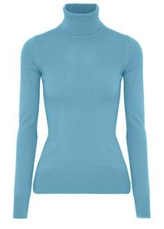 Emilio Pucci Woman Stretch-knit Turtleneck Sweater Light Turquoise