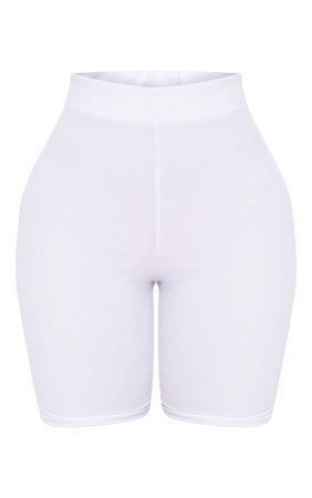 White biker shorts