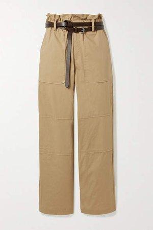 Scott Belted Stretch-cotton Cargo Pants - Camel