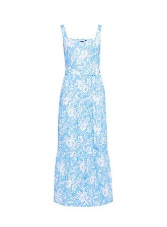 Blue Floral Print Dress | Dorothy Perkins