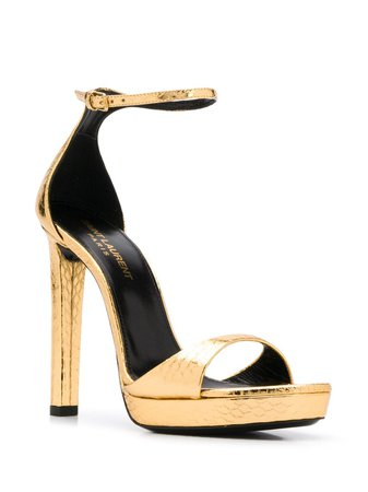 Saint Laurent Metallic 120 Sandals - Farfetch