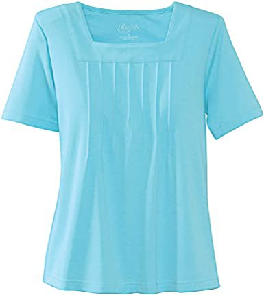 UltraSofts Square Neck Top at Amazon Women's Clothing store: Blouses