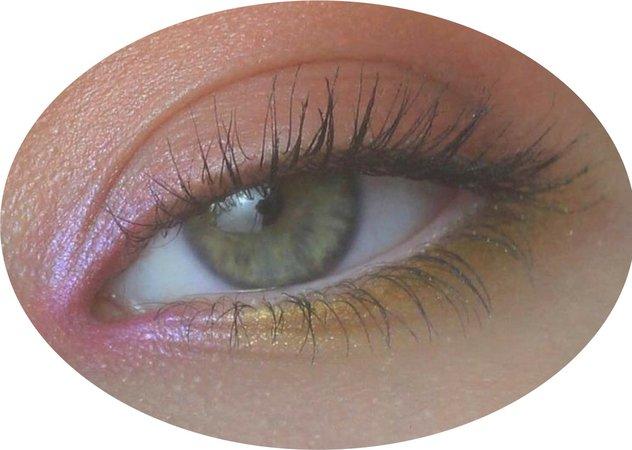 pink/yellow eyeshadow