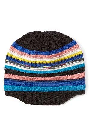 Wool Striped Knit Beanie Gr. M