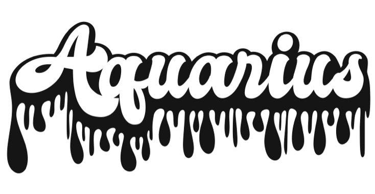 Aquarius word art
