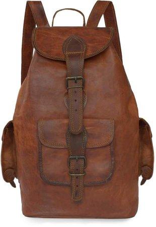 Vida Vida Vida Vintage Classic Leather Backpack - Medium