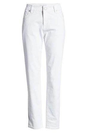 Tommy Bahama Ella Twill Slim Boyfriend White Jeans white