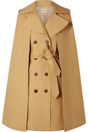 Khaite   Donna cape-effect cotton-twill trench coat   NET-A-PORTER.COM