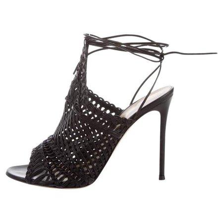 Gianvito Black Leather Heels