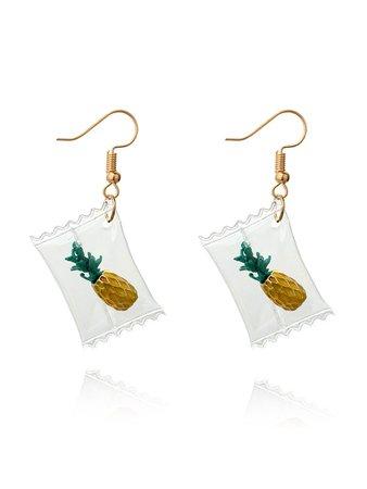 Pineapple Sugar Design Drop Earrings