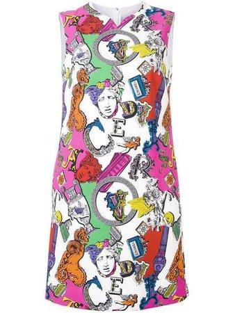 versace iconic motif mini dress