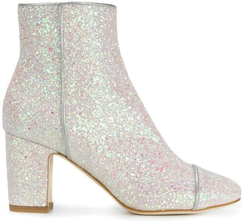 Polly Plume glittered ankle boots