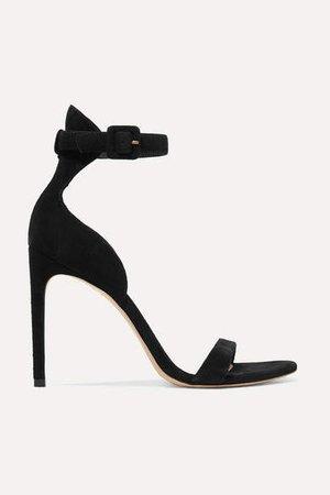 Nicole Suede Sandals - Black
