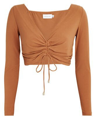 8 Significant Other Sirene Ruched Crop Top   INTERMIX®
