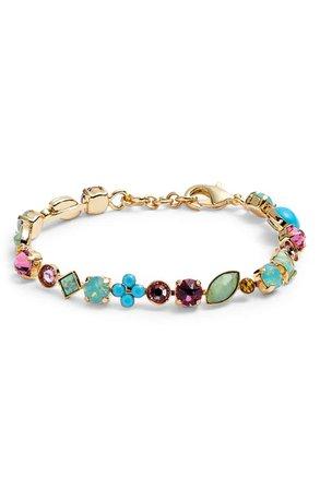 Sorrelli Crystal & Cabochon Line Bracelet | Nordstrom