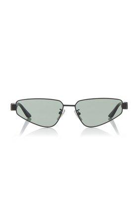 Square-Frame Metal Sunglasses By Balenciaga | Moda Operandi