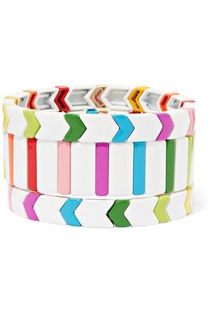Roxanne Assoulin | Set de trois bracelets en émail Fresh Start | NET-A-PORTER.COM