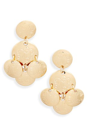 Gas Bijoux Diva Engraved Drop Earrings | Nordstrom