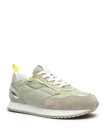 Schutz Penny Mixed-Media Sneakers | Neiman Marcus