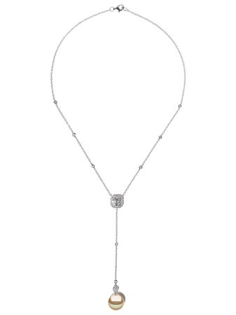 Yoko London 18kt White Gold Starlight Golden South Sea Pearl And Diamond Necklace - Farfetch