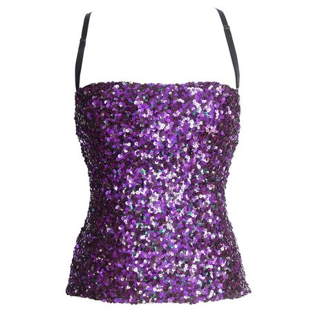 DOLCE&GABBANA top sequin encrusted jewel colours bustier 40 / 6 mint