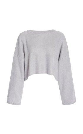 Oversized Metallic Wool-Blend Cropped Sweater By Missoni | Moda Operandi
