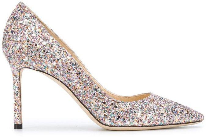 Glitter Pumps With Stiletto Heel