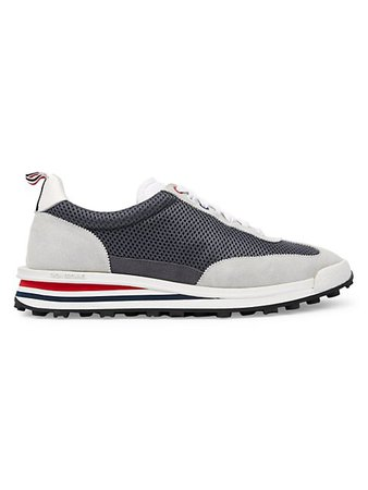 Thom Browne Tech Mixed-Media Sneakers | SaksFifthAvenue