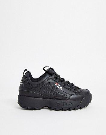 Fila Disruptor sneakers in black | ASOS