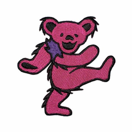 2 INCH Pink Grateful Dead Dancing Bear Embroidered Iron On | Etsy