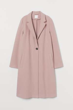 Single-breasted Coat - Pink