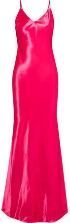 Satin-crepe Gown - Pink