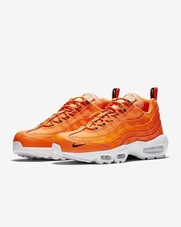 orange nike shoe