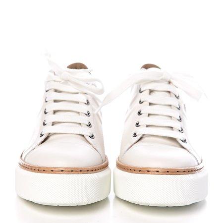 HERMES Calfskin Pegase Pop Polo Sneakers 36 Multicolor White