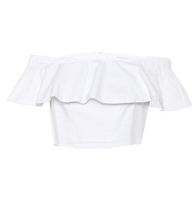 Selma ruffled cotton crop top