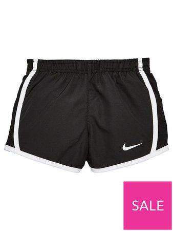 Nike Girls Dry Tempo Shorts - Black/White